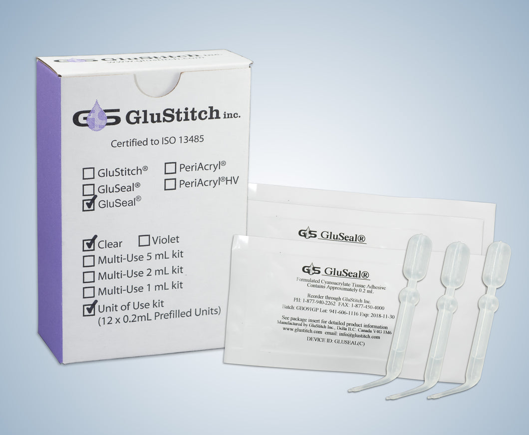 12 X 0.2 mL Pipettes of Clear GluSeal®