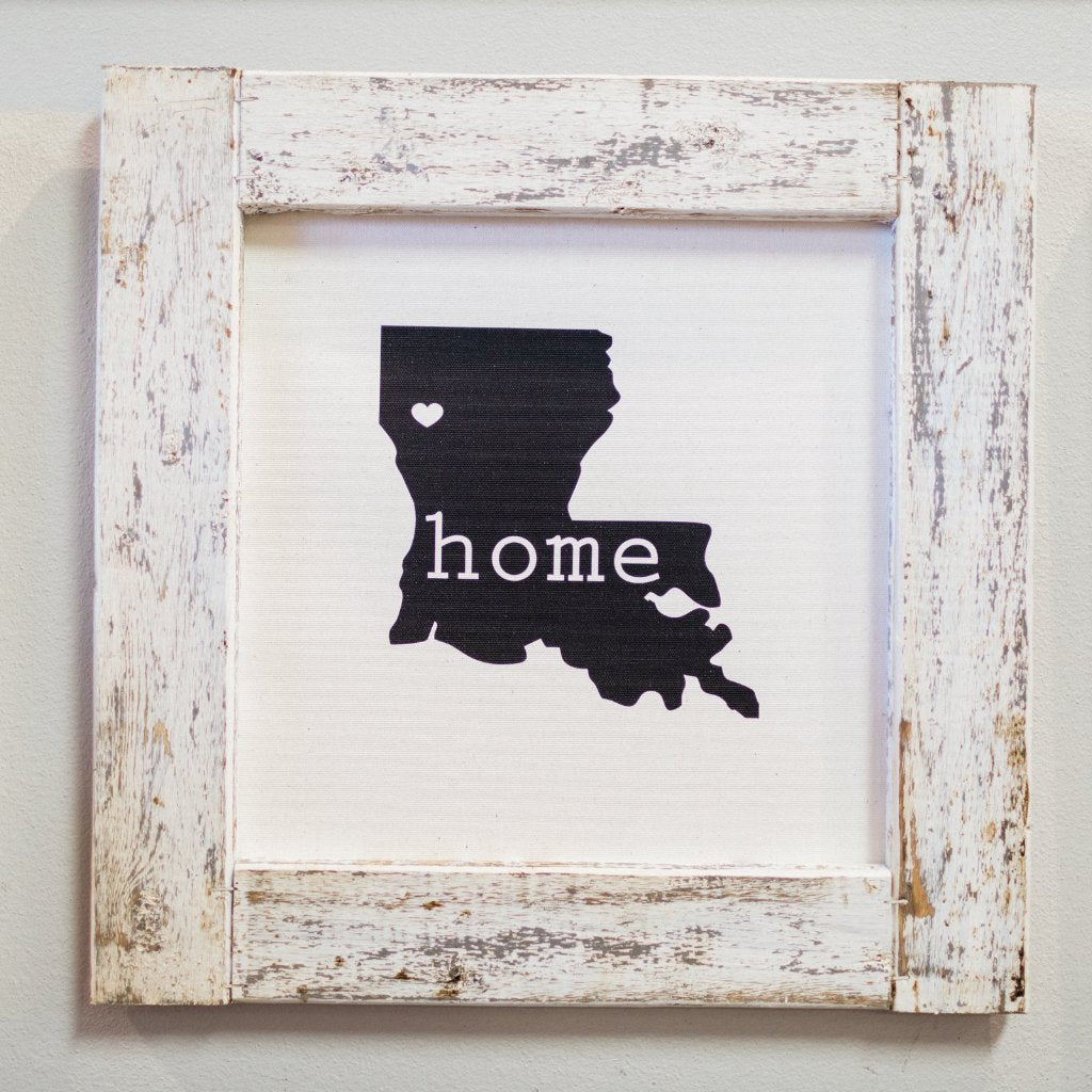 Louisiana Home Heart - Framed Canvas