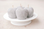 Small Cement Pear/Apple Paperweights