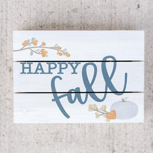 Happy Fall Pallet Box Sign