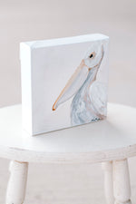 "Pelican - 6x6"" Canvas Painting"