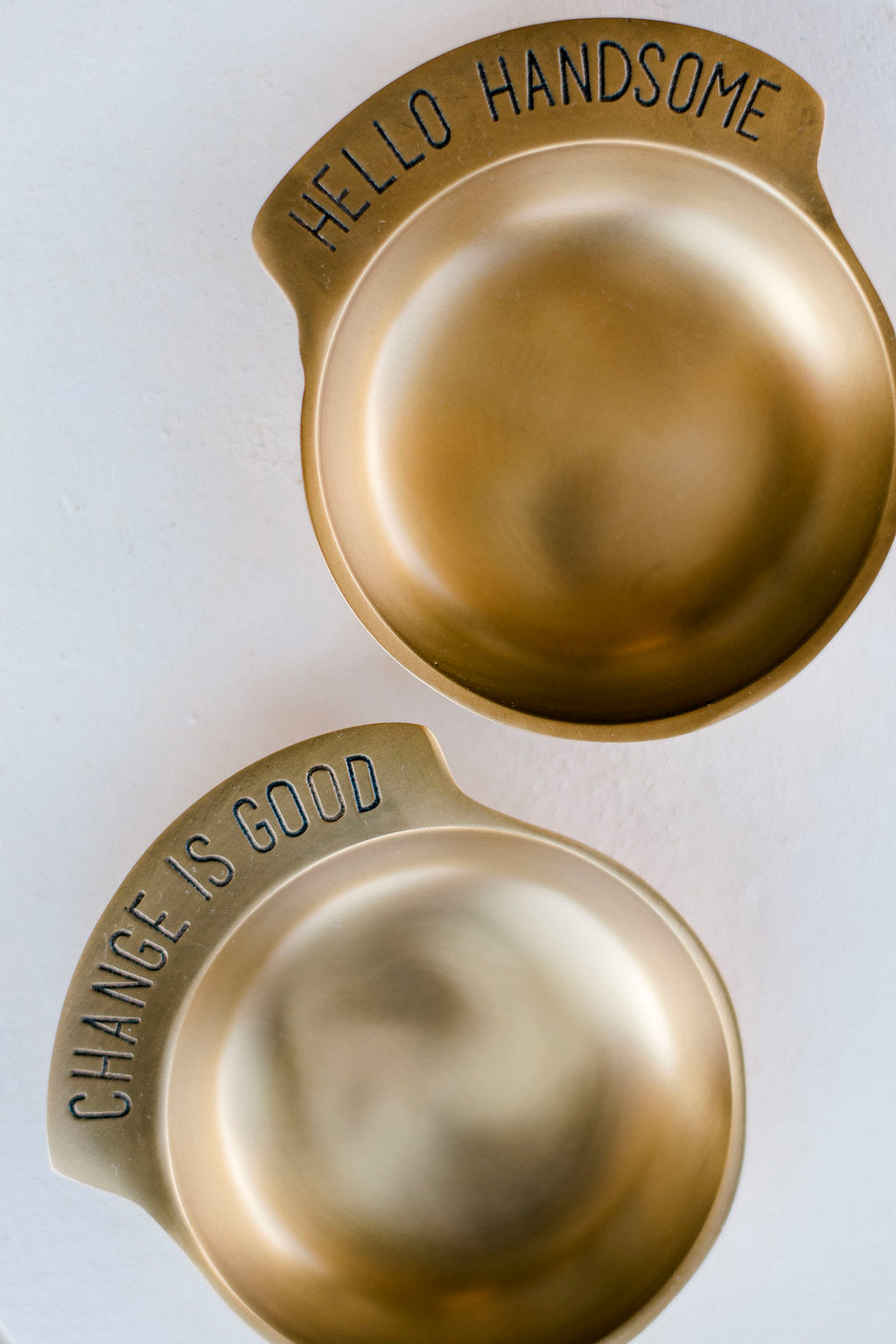 Hello Handsome Brass Catchall