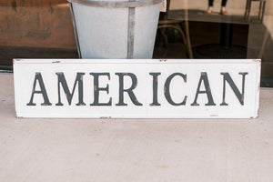Embossed Metal American Sign
