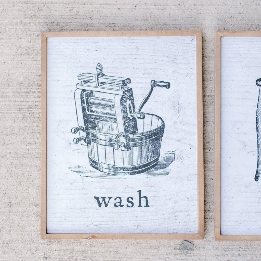 Wash, Press, Dry Prints