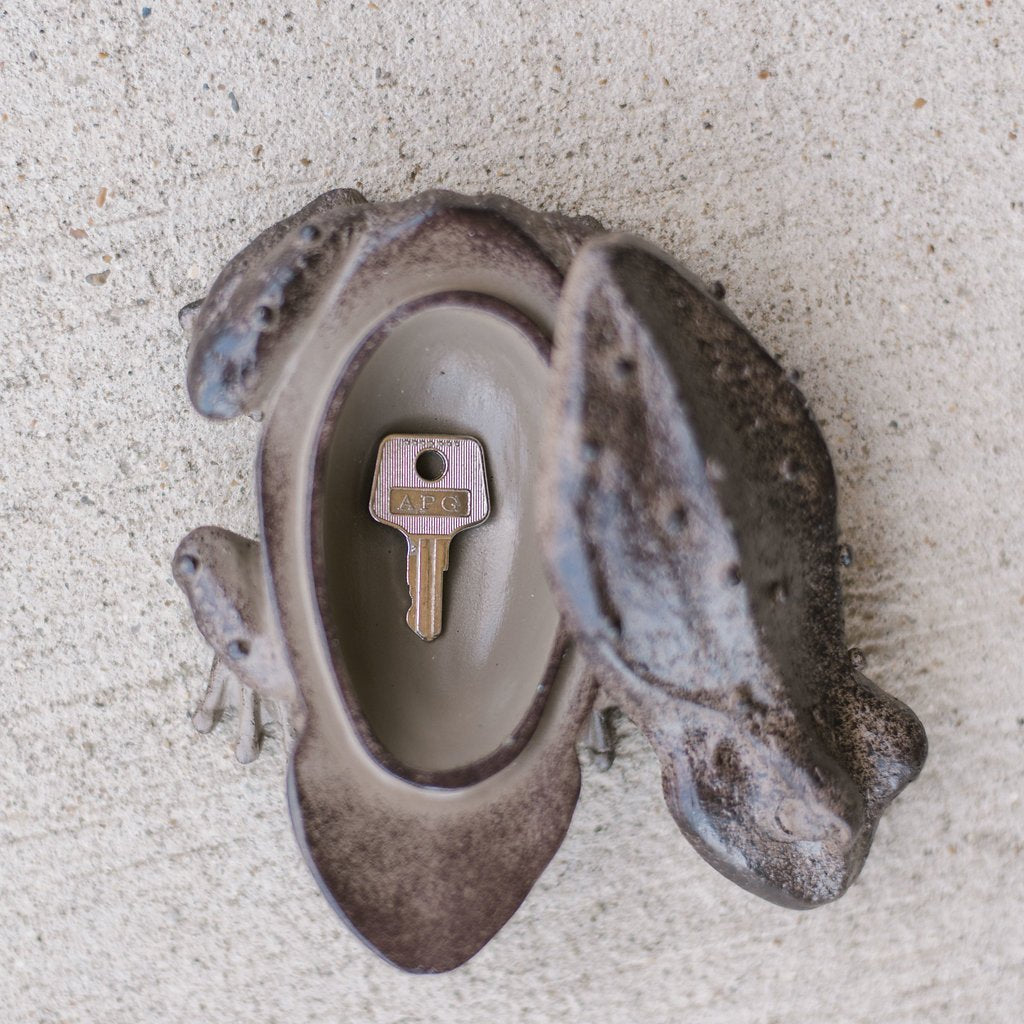 "5"" Resin Frog Key Box"