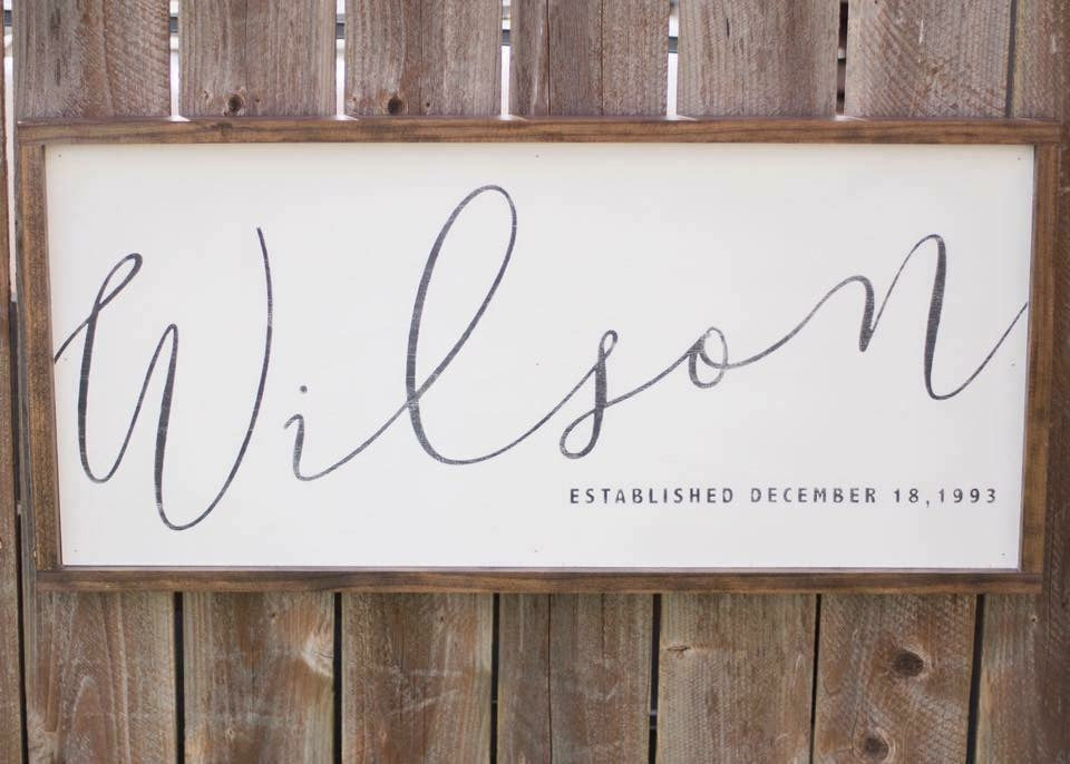Personalized Sign 34x16""