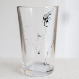Drinking Glass/Votive Holder w Farm Animal