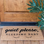 Quiet Please Sleeping Baby Door Mat