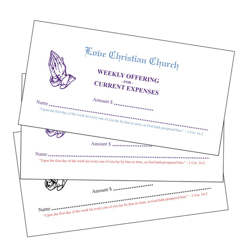 2-Color Pew Tithing Envelopes - envelopes4churches.com
