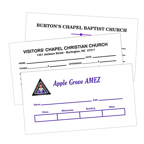#6 3/4 White Tithing Envelopes - envelopes4churches.com