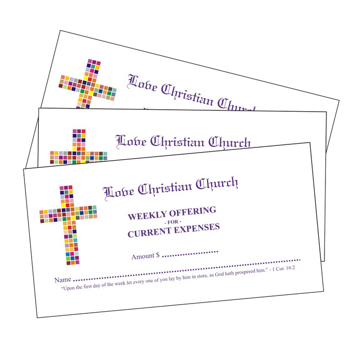 4-Color Pew Tithing Envelopes - envelopes4churches.com