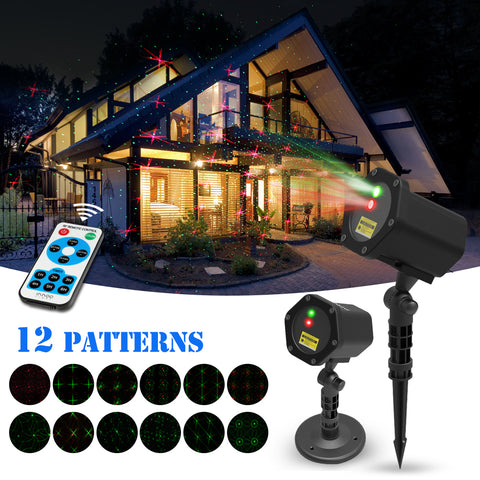 Christmas LED Waterproof Projector 12 in 1 Pattern