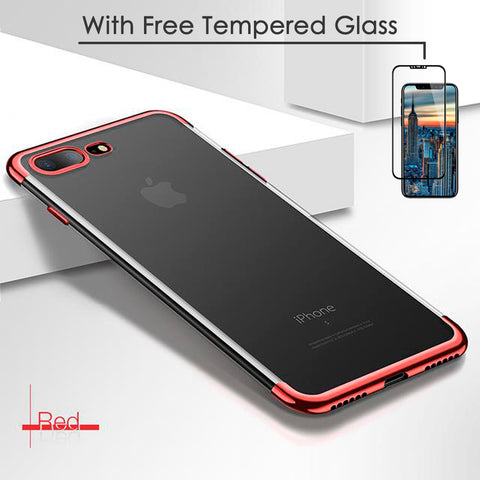 Premium Clear iPhone Case + FREE Tempered Glass