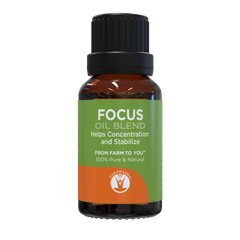 Focus - Essential Oil Blend - 100% Pure & Natural Therapeutic Grade - GuruNanda