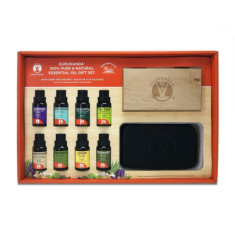 The Ultimate Essential Oil Gift Set - 8 Count Oil Set - 15 ml Bottles