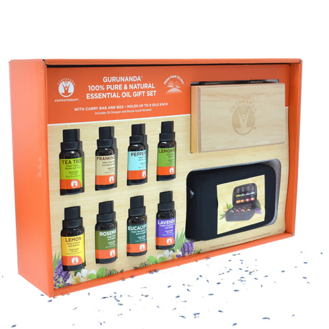 The Ultimate Holiday Gift Set - 8 Count Oil Set - 15 ml Bottles - GuruNanda