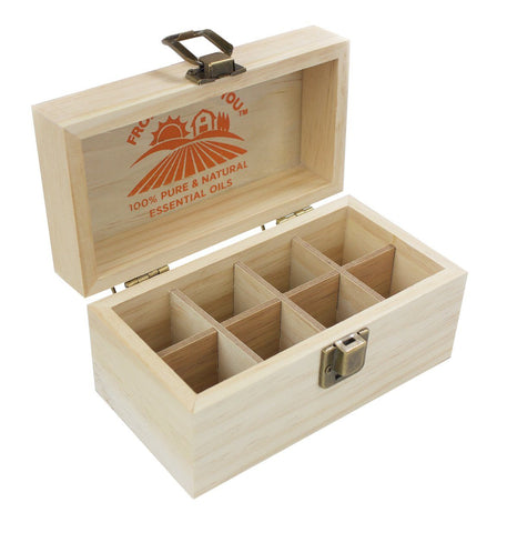 Wooden Storage Box 8 Count For Essential Oil