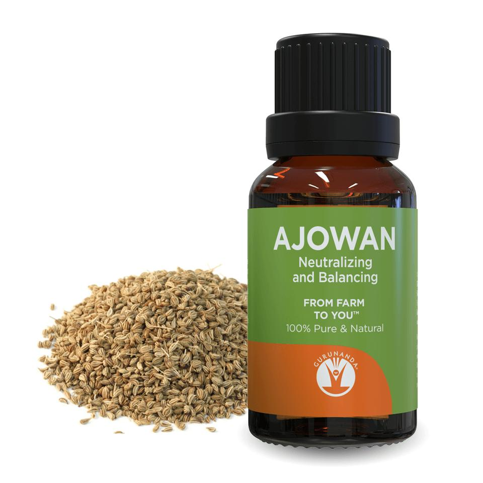 Ajowan - Essential Oil - 100% Pure & Natural Therapeutic Grade - GuruNanda