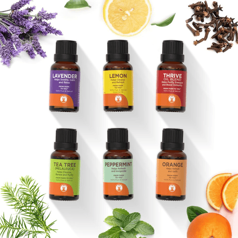 The Cleaning Solution - Set of 6 Essential Oils for Cleaning - GuruNanda