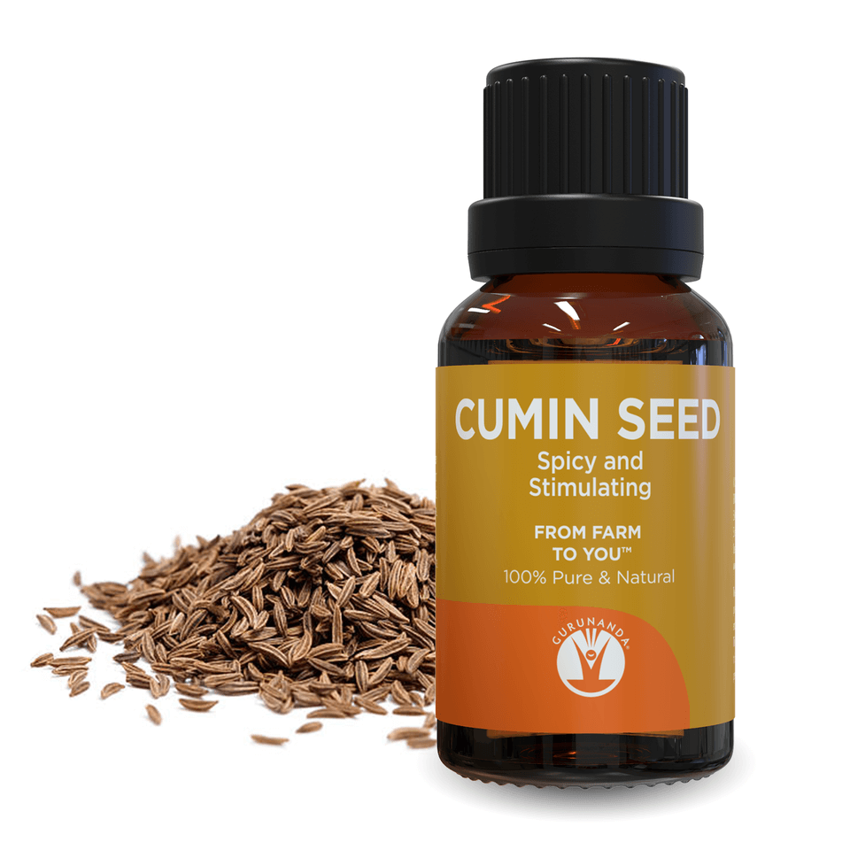 Cumin Seed - Essential Oil - 100% Pure and Natural Therapeutic Grade - GuruNanda