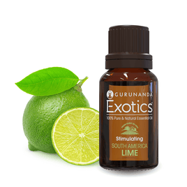 Lime - Exotic Essential Oil - 100% Pure & Natural Therapeutic Grade - GuruNanda