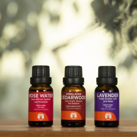 Bedtime Package - Set of 3 Essential Oils - 100% Pure & Natural Therapeutic Grade - GuruNanda