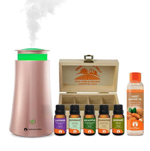 RoseGold Tower plus Essential Oil Bundle - GuruNanda