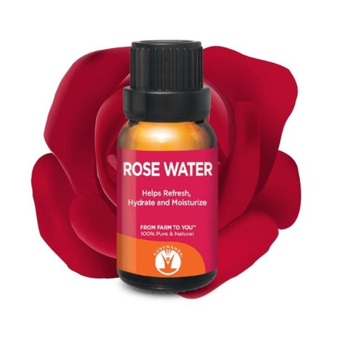 100% Pure Rose Water 15ml | GuruNanda - GuruNanda
