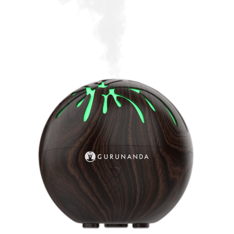 Mini Tree Dark Wood USB Diffuser + 2 Bonus Oils - Essential Oil Diffuser
