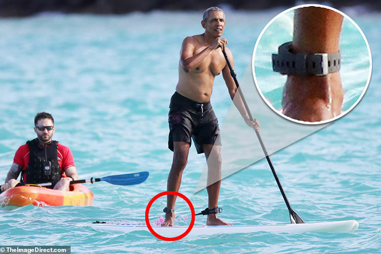 President Obama wears Sharkbanz during Hawaii vacation