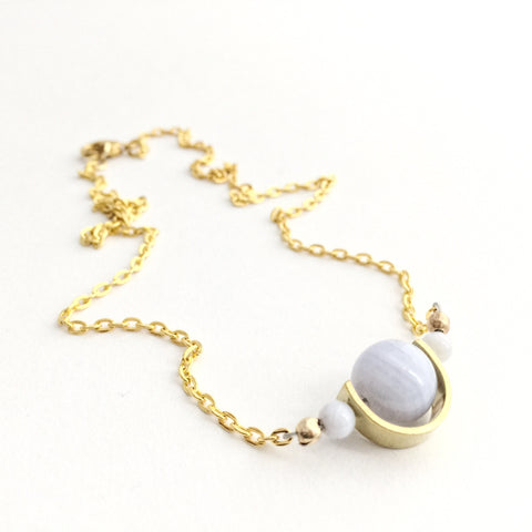 Tiny Orbs Necklace in Gold and Silver