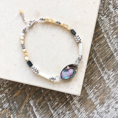 Abalone and Mother of Pearl Bracelet
