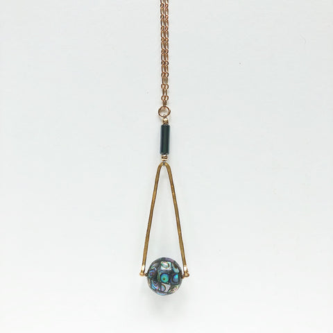 Abalone and Hematite Necklace