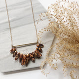 OOAK - Brown Fresh Water Pearl Midi Length Necklace