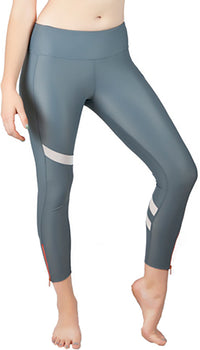 RUSHCUTTER 7/8 TIGHT W/O COMPRESSION // SLATE & WHITE - Nayali - Activewear for D Cup & Up
