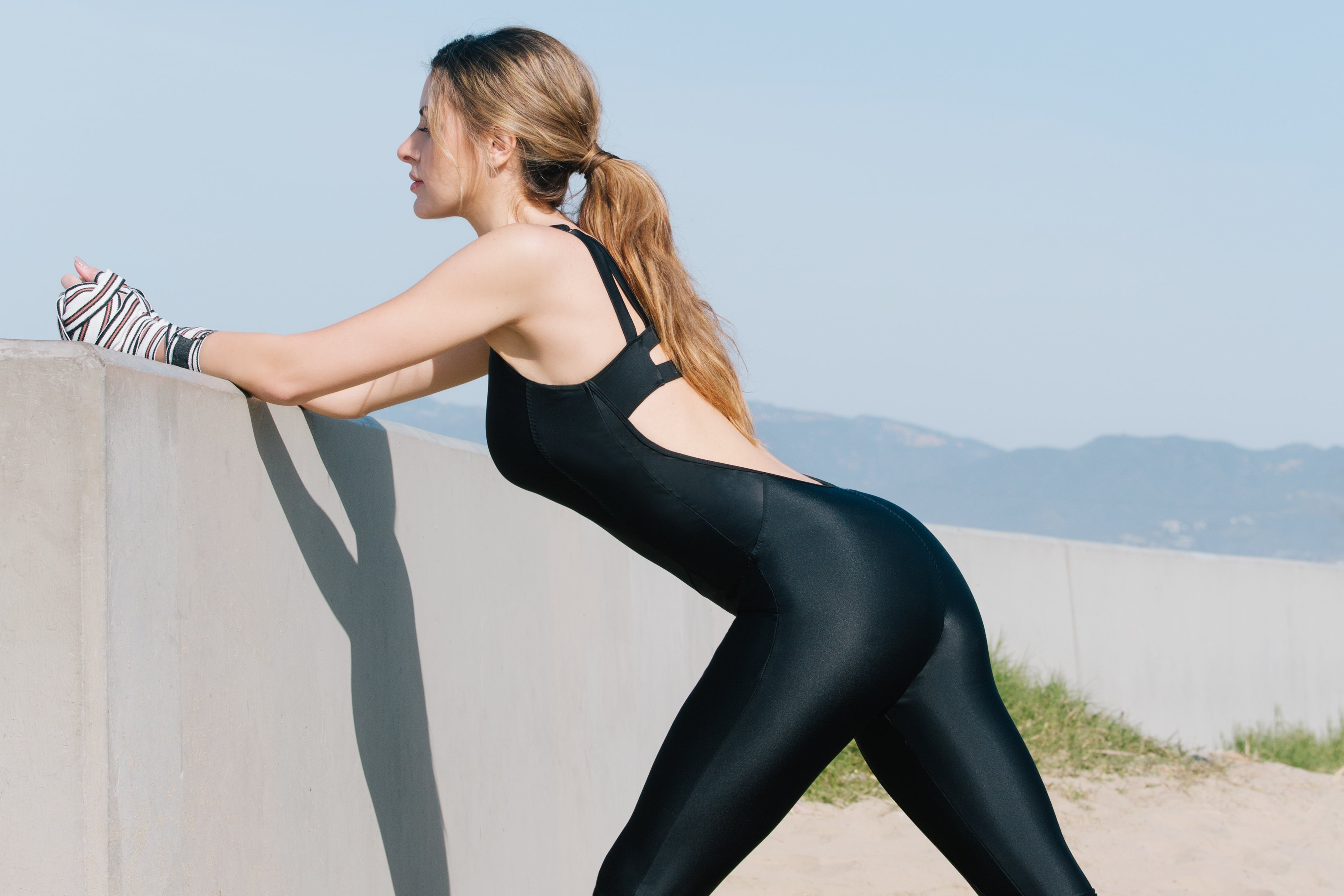 BRIGHTON 1PC JUMPSUIT // BLACK - Nayali - Activewear for D Cup & Up
