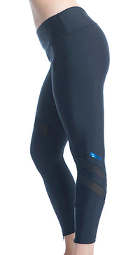 RUSHCUTTER 7/8 TIGHT W/O COMPRESSION // BLACK & BLACK - Nayali - Activewear for D Cup & Up