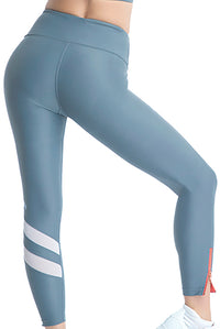 RUSHCUTTER 7/8 TIGHT W/O COMPRESSION // SLATE & WHITE - Nayali - Activewear for A-G Cup