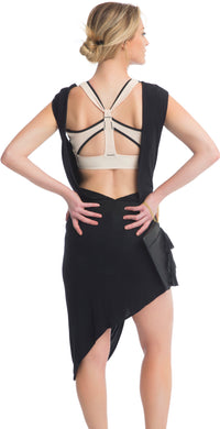 ZIP FRONT CAIRNS CROP // BLACK & BUFF - Nayali - Activewear for A-G Cup