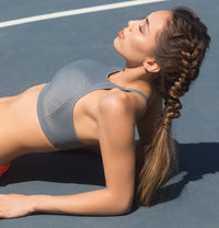 SURRY HILLS CROP // SLATE - Nayali - Activewear for D Cup & Up