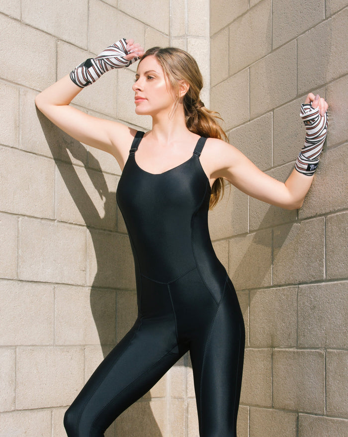 BRIGHTON 1PC JUMPSUIT // BLACK - Nayali - Activewear for A-G Cup