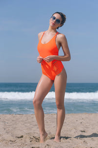 BELLS BEACH 1PC SWIMSUIT // FLAME - Nayali - Activewear for D Cup & Up