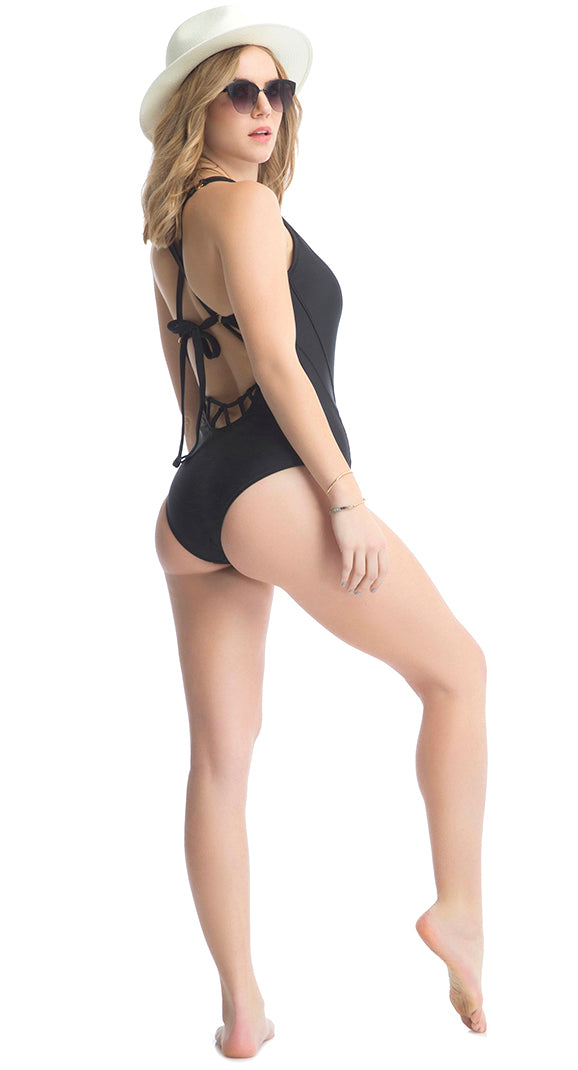 BELLS BEACH 1PC SWIMSUIT // BLACK - Nayali - Activewear for D Cup & Up