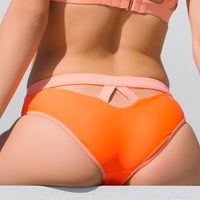 BONDI AQUA BOTTOM // FLAME & GRAPEFRUIT - Nayali - Activewear for D Cup & Up