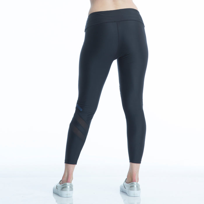 RUSHCUTTER 7/8 TIGHT W/O COMPRESSION // BLACK & BLACK - Nayali - Activewear for A-G Cup