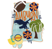 Adult State And Team Sublimation Transfers Auburn