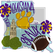 Adult State And Team Sublimation Transfers Louisiana