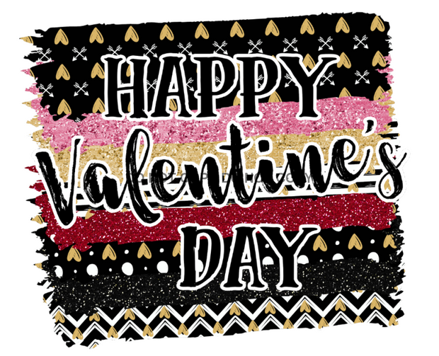 Happy Valentines Day Splash Sublimation Transfer