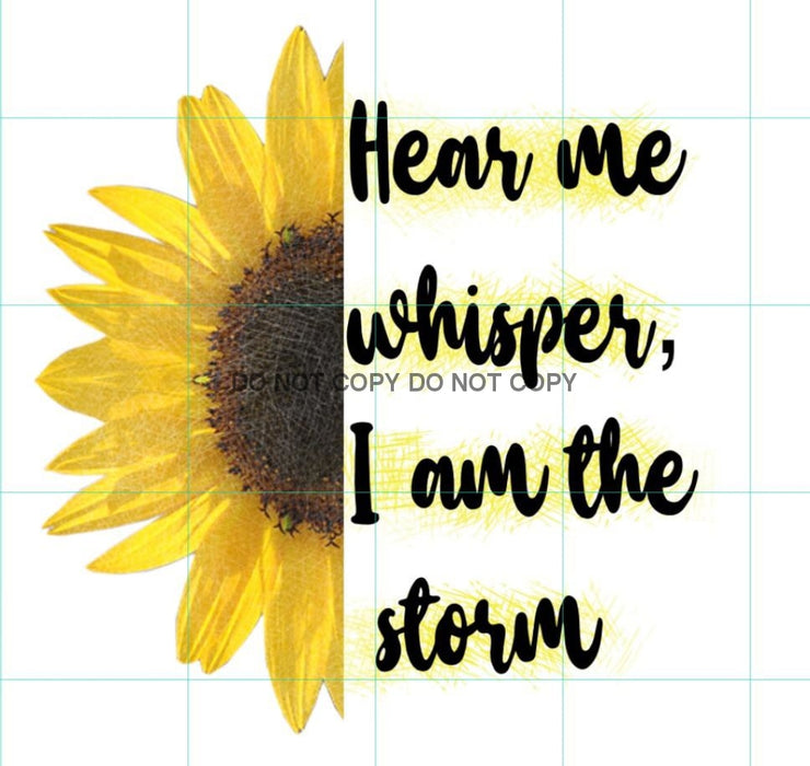 Hear Me Whisper Storm Sublimation Transfer