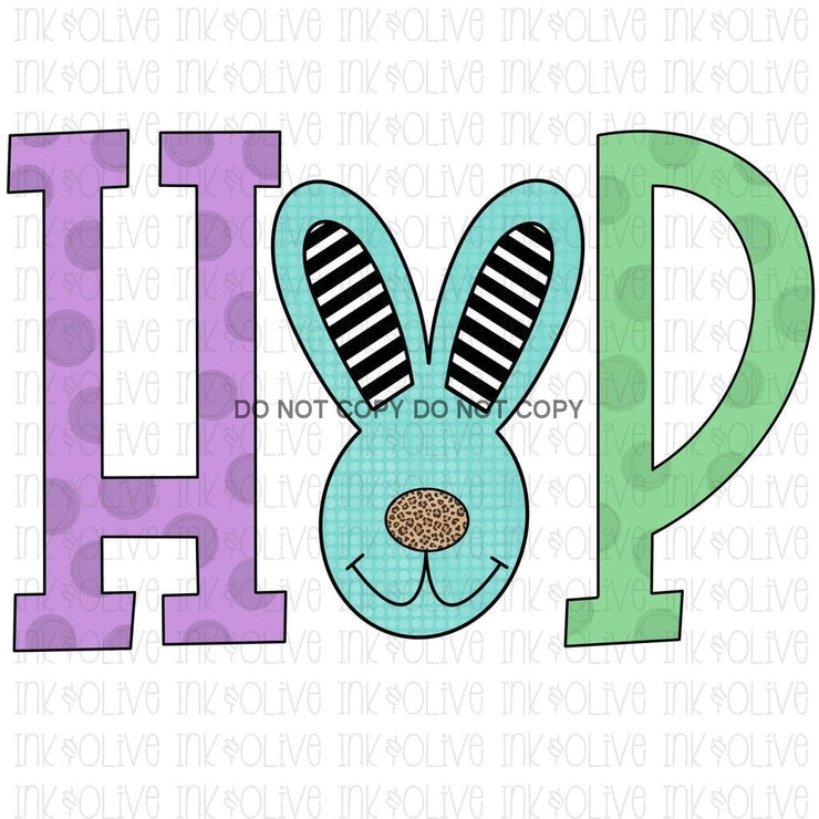 Hop Easter Bunny Sublimation Transfer